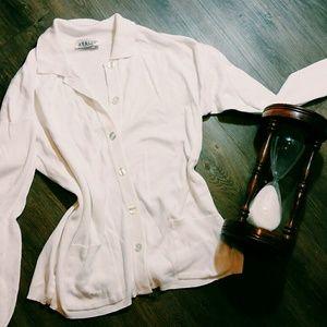 Avalon Sweaters - White cardigan