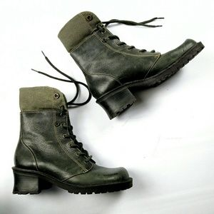 Bakers Shoes - BAKERS LEATHER ARMY MILITARY STYLE BOOTS 7.5
