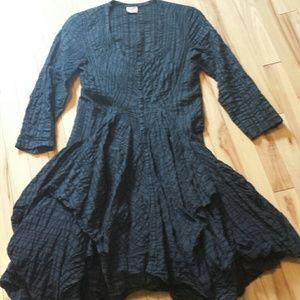Dresses & Skirts - Black cotton handkerchief dress