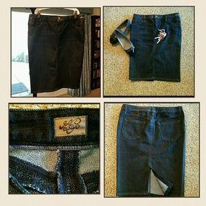 Goldsign Dresses & Skirts - Great deal! Denim pencil skirt, Goldsign, EUC