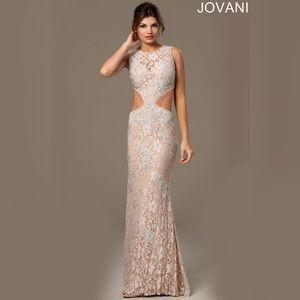 Jovani 92151 Champagne Prom Dress
