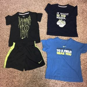 Nike Other - Nike toddler 18 month lot shorts tees tops