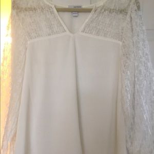 astars Tops - Astars cream top with lace balloon sleeves