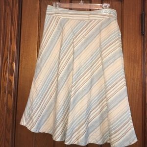 Merona Dresses & Skirts - Striped linen skirt