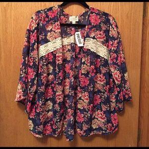 PacSun Tops - Floral Kimono