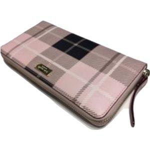 kate spade Handbags - KATE SPADE NEWBURY LANE PRINTED WALLET PINK PLAID
