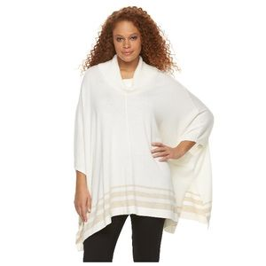 Sweaters - Oversized sweater poncho w/sleeves