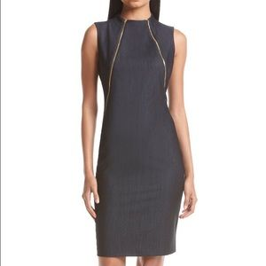 NWT Calvin Klein High neck Dress with zippers