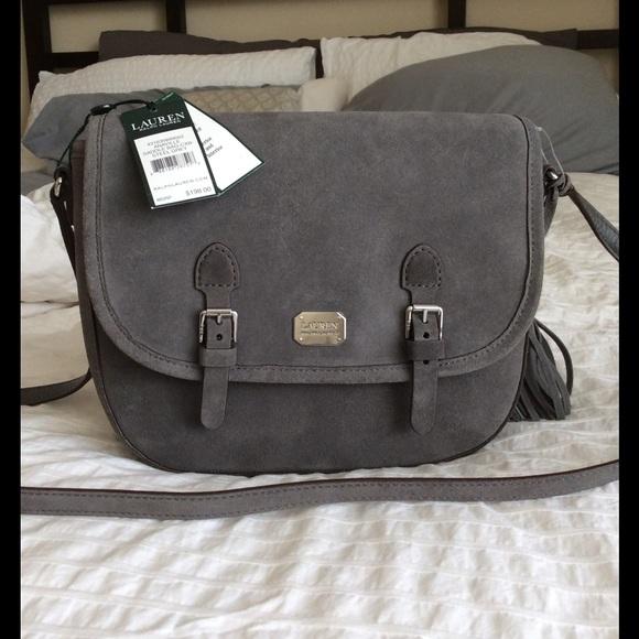 Suede Ralph Lauren Anaville Saddle Bag cd6a28891b708