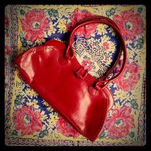 Maxx New York Handbags - Red leather Maxx NY baguette purse