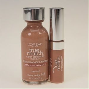 L'Oreal Other - L'Oreal True Match N6 Honey Beige Set