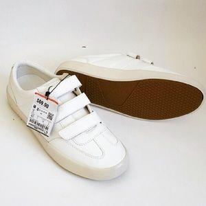 Zara White Velcro Sneakers