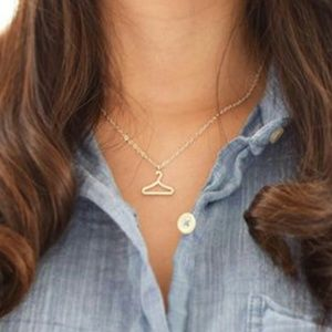 FINAL SALE! Dainty Silver Tone Hanger Necklace