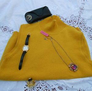 Bogner Jackets & Blazers - Vintage cashmere vest spice yellow