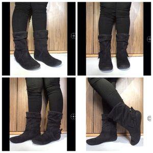 Aldo Shoes - ALDO suede ankle boots black boots.