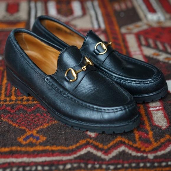 bd274c87365 Gucci Shoes - FINAL SALE Vintage Resoled Gucci Horsebit Loafers