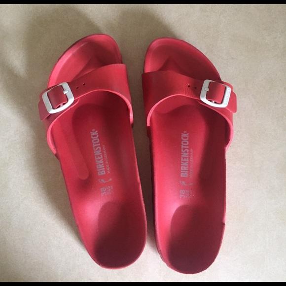 Birkenstock red sandals size 38 women's 7