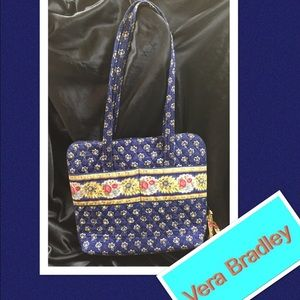 💙Vera Bradley Blue Floral Lap Top Bag💙