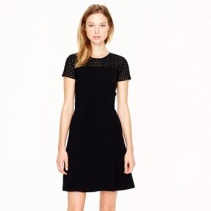 NWT J. Crew stretch eyelet dress