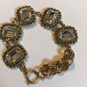 Catherine Popesco Jewelry - Crystal Rhinestone Framed-Bracelet./N.W.O.T.