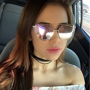 Accessories - New KYLIE Mirrored Aviator Reflective Sunglasses