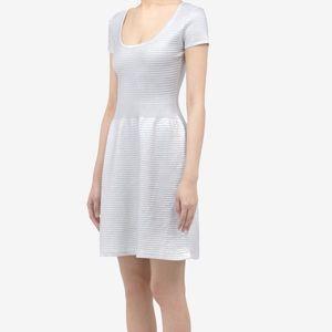 Sandro metallic cotton blend dress