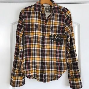 Harajuku Lovers Tops - Plaid Flannel Button up Shirt