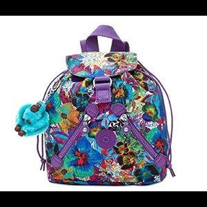 Kipling Handbags - KIPLING ALOHA PURPLE SMALL BACKPACK