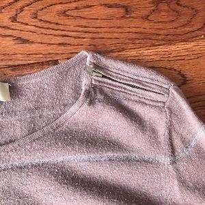LOFT sweater with shoulder zipper