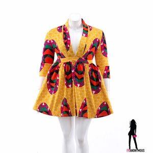 Dresses & Skirts - PLUS ⭐️ Multi-Printed Full Skirt Long Sleeve Dress