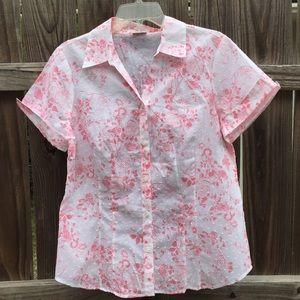 Van Heusen Tops - Van Heusen button front blouse