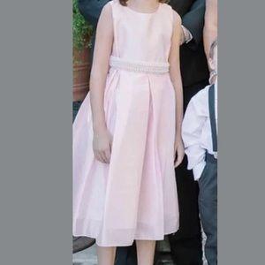 My best kid Formal pink pearl belted dress Sz 12