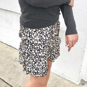Who-What-Wear Floral Mini Skirt