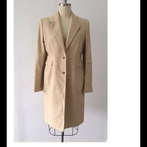 Costume National Jackets & Blazers - Sz 48 IT Tan Camel Coat Trench Eyelet Detail