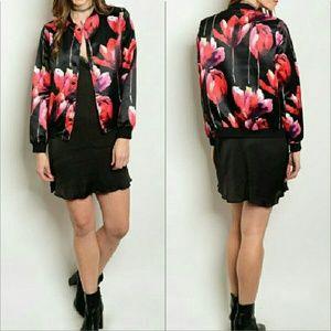 Jackets & Blazers - Floral bomber jacket