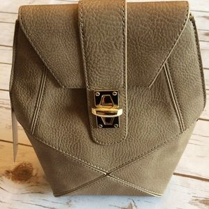  Taupe patch hexagonal crossbody