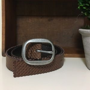 Genuine Leather GAP brown perforated belt. Size M