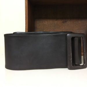 Brown Leather Wrap Belt