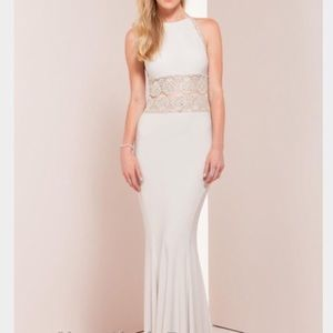 Neiman Marcus Mignon Halter, Beaded Prom Dress