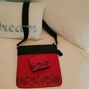 COACH Other - Coach Crossbody & Matching Wallet RETIRED PATTERN