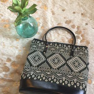 Handbags - Vintage Embroidered Boho 60s Guatemalan bucket bag