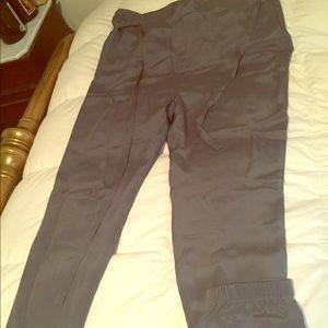 Tibi Paper Bag Pants silk solstice grey
