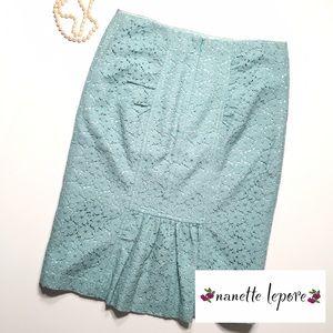 "Nanette Lepore Dresses & Skirts - Tiffany Blue ""Ciao Bella"" Nanette Lepore Skirt"