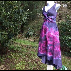 Lela Rose Dresses & Skirts - Stunning full dress Size 6 gray burgundy floral