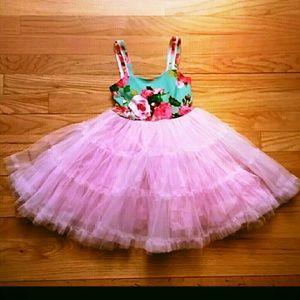 Little Mass Other - Little Mass NWT Pink Floral Pettiskirt Dress