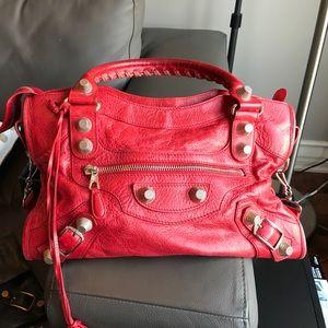 Balenciaga Handbags - balenciaga coquelicot city red
