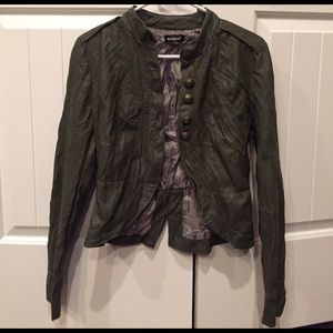 Bebe olive green jacket size Small