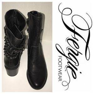 Fergie Shoes - Fergie Footwear Black Chain Back Boots