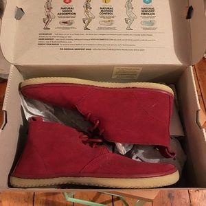 Vivo barefoot Shoes - NIV Vivo Barefoot red suede desert boot