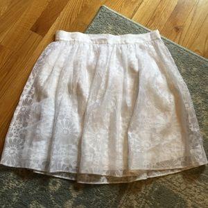 Elizabeth and James Dresses & Skirts - Elizabeth & James White Floral Sheer Skater Skirt